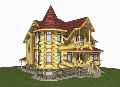 K3-Cottage. Log home&cabin design software.